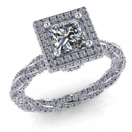 1 ct os Princess gyémánt gyűrű Gatto Matto Princess