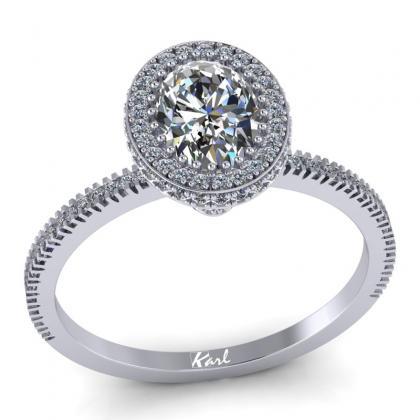 Ovalköves gyémánt gyűrű Pandoro