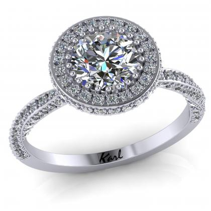 1 ct os platina gyémánt gyűrű Gatto matto