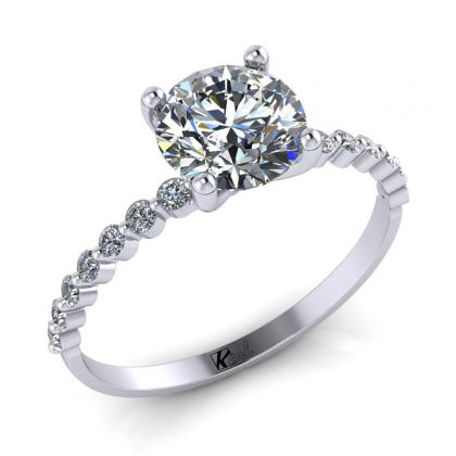 1 ct os kerek szoliter gyűrű Diva