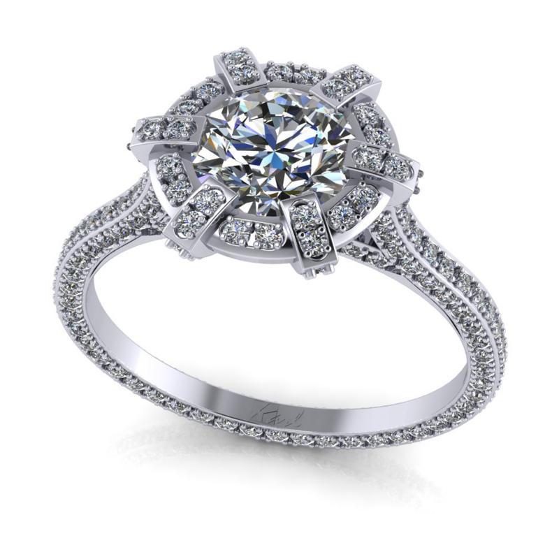 1 ct os platina gyűrű