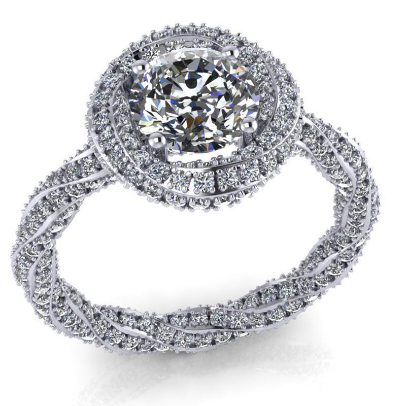 1 ct os gyémánt gyűrű