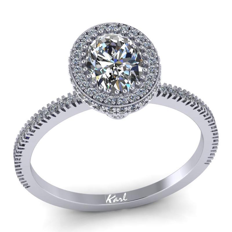Ovalköves gyémánt gyűrű